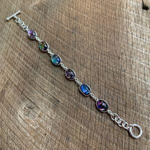 Jewelry - 950 Silver Druzy Toggle Bracelet